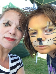 Zebra and Tiger at the Village Fete